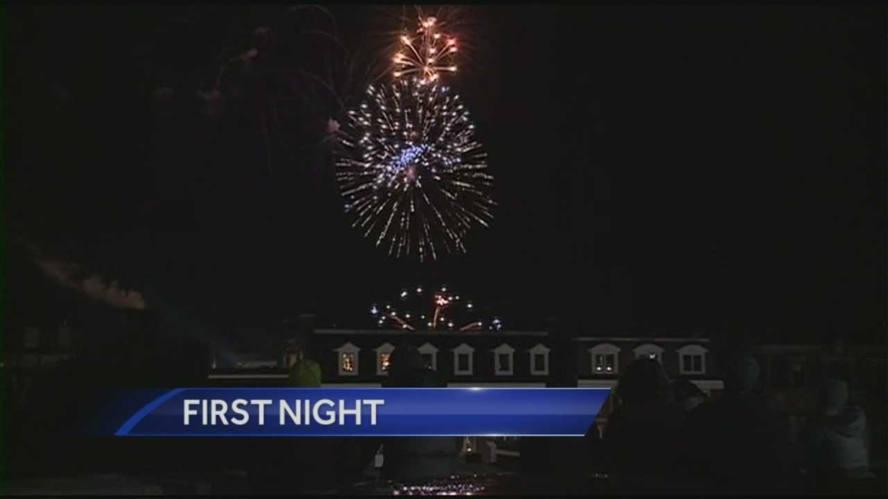 Quiet, cold weather conditions greeted revelers ringing in 2015 at First Night events in Portsmouth. WMUR's Adam Sexton reports.