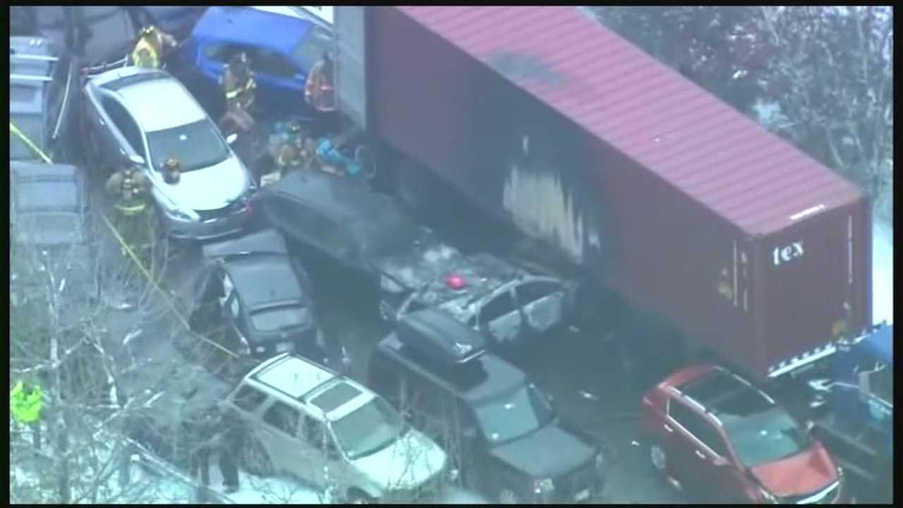 Several Hurt In Large Car Crash