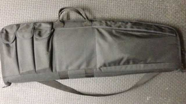 Salem police provided this photo of a black canvas carry bag that is similar to the one the missing rifle was last seen in.