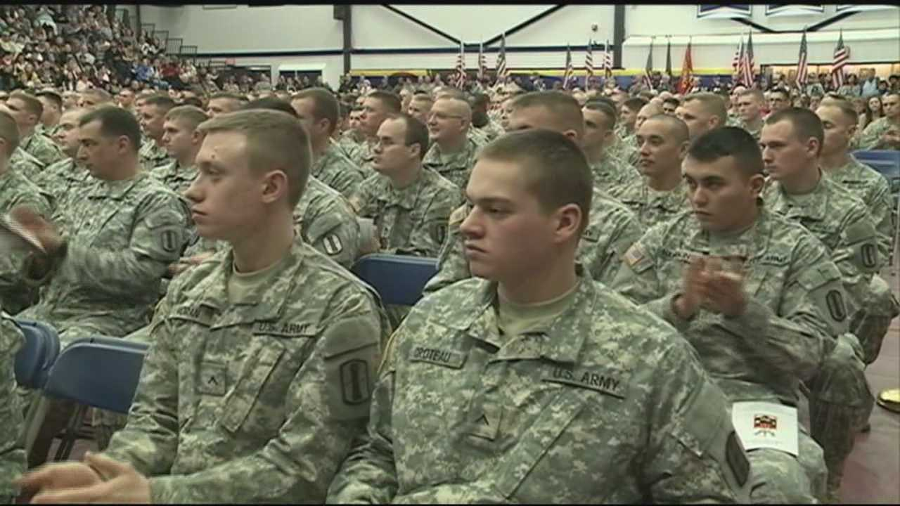 A deployment ceremony was held Sunday at the Southern New Hampshire University Fieldhouse. In a few months soldiers who were part of the ceremony will be serving our country in the Middle East. WMUR's Mike Cronin has the story.