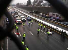 Commuters traveling to the Boston area should be advised that multiple sections of Interstate 93 are closed because of protesters.