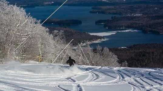 9 tie. Mount Sunapee Resort in Newbury