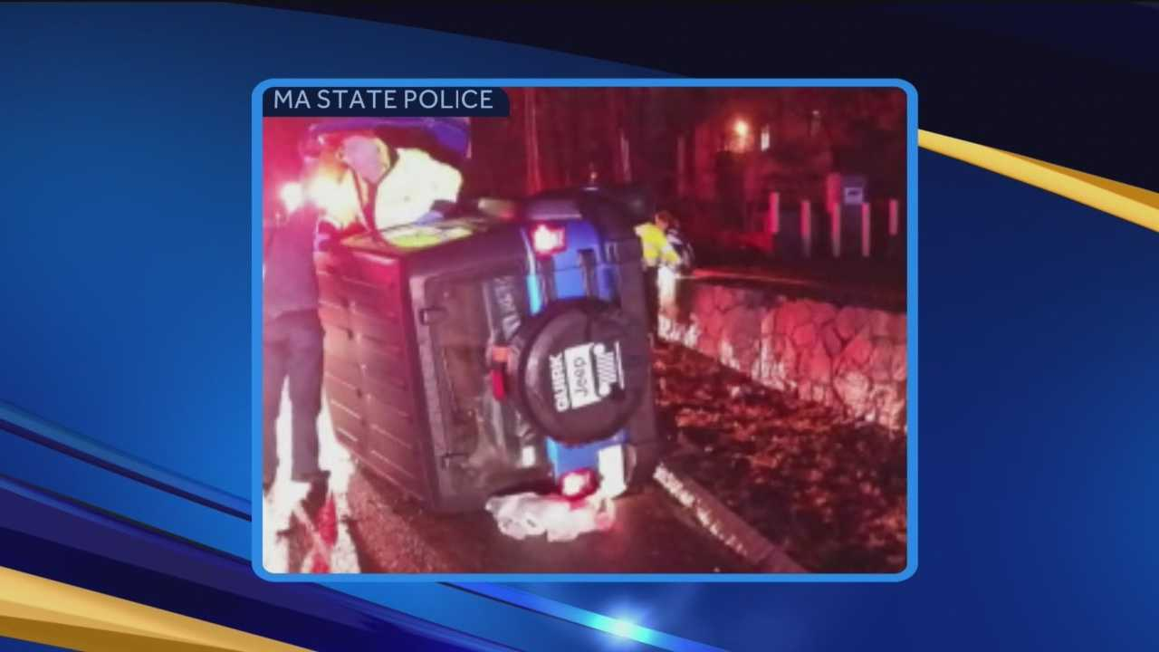 New England Patriots defensive tackle Vince Wilfork scored extra points after the game against Indianapolis Sunday night. He rescued a woman involved in a rollover near Gillette Stadium. WMUR's Jean Mackin reports.
