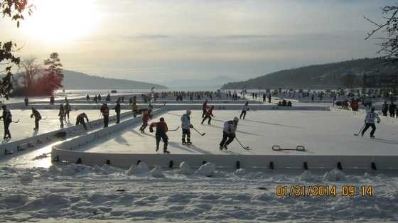 Lace up your skates for the New England Pond Hockey Classic.