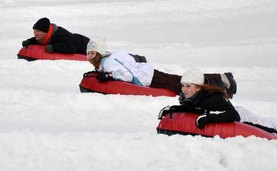 Skiing or snowboarding not your thing? Try snow tubing!