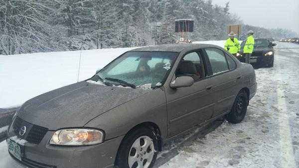 New Hampshire State Police say a man overdosed on heroin and crashed into a guardrail on I-93 in Windham, New Hampshire, Saturday afternoon.