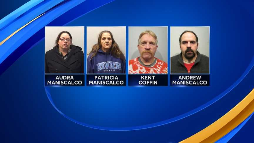 Rochester police arrested four people after responding to a report of a drug overdose Saturday night.