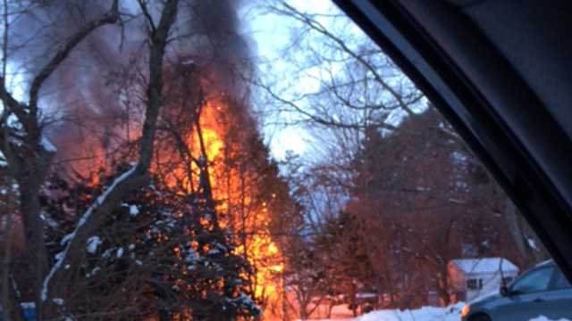 A Somersworth home was destroyed by a fire overnight.