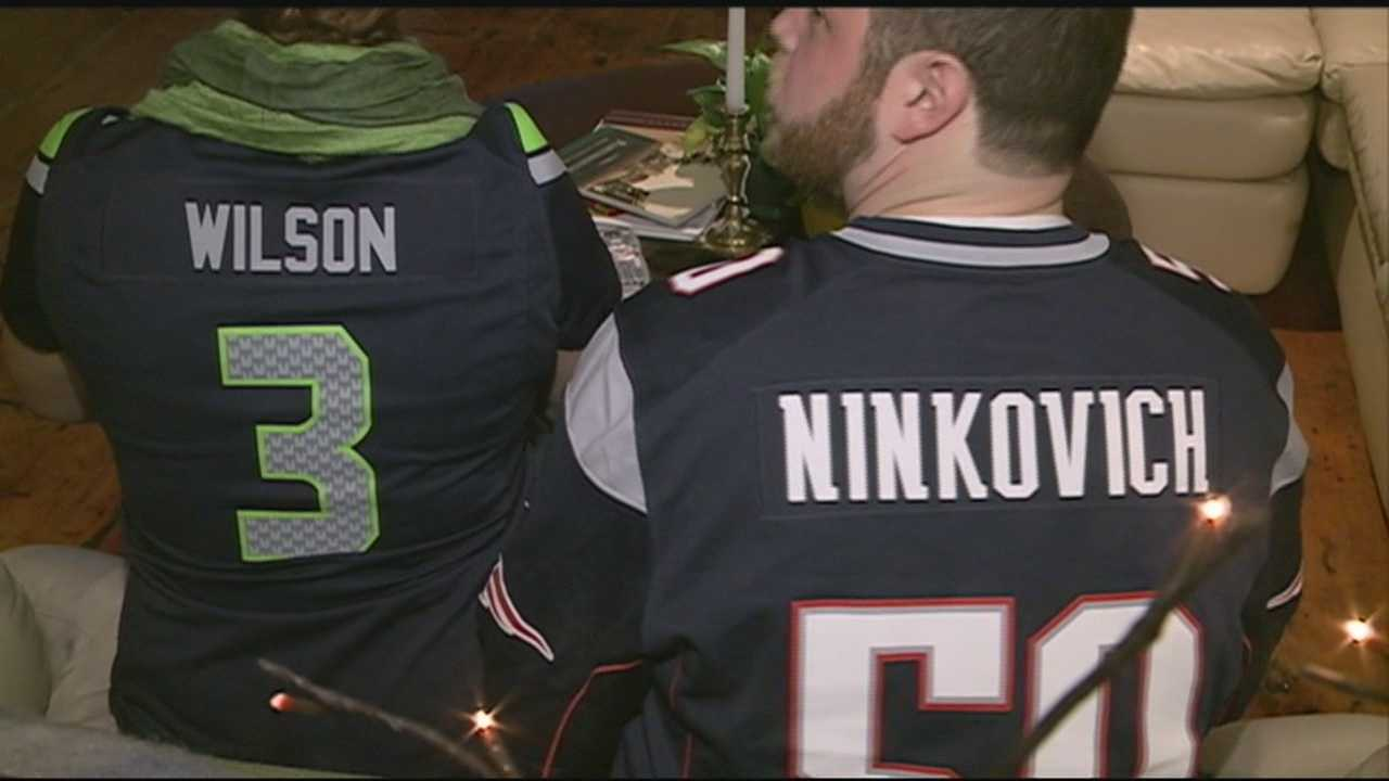 Portsmouth couple disagree as to which team will win this Superbowl Sunday.