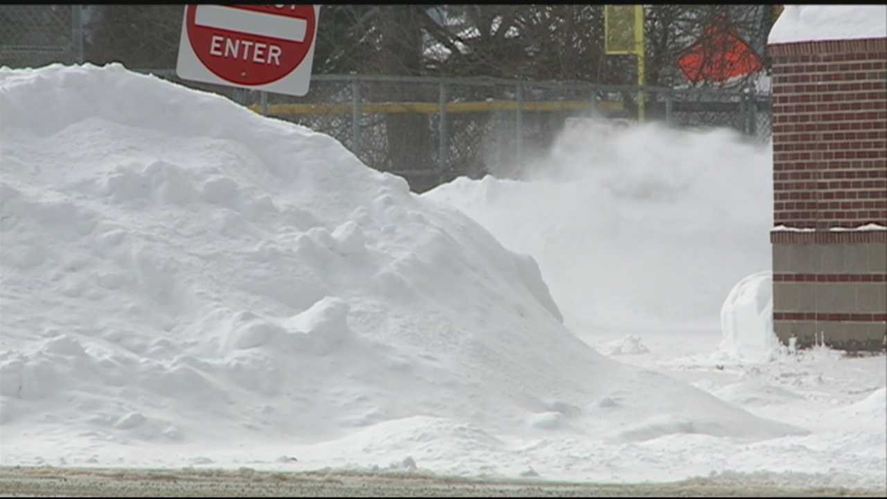 A storm is moving in Sunday, less than a week after a blizzard dropped more than 2 feet of snow across New Hampshire.