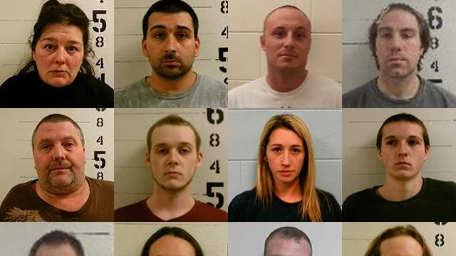 Twelve people have been arrested in connection with a drug investigation in the towns of Wakefield, Wolfeboro and Milton, according to authorities.