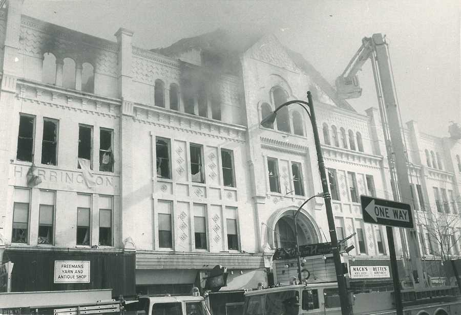 Also in 1985, a crowd gathered as flames ripped through the Opera House on Hanover Street.