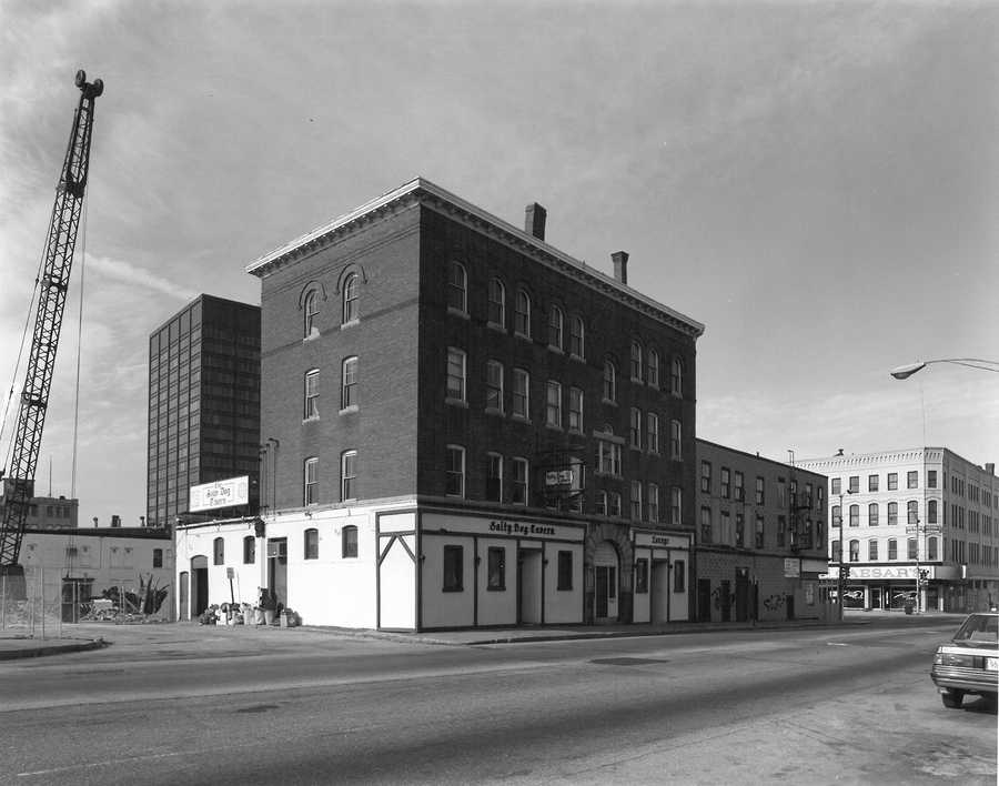 In 1985, the streets of downtown Manchester were a little less busy.