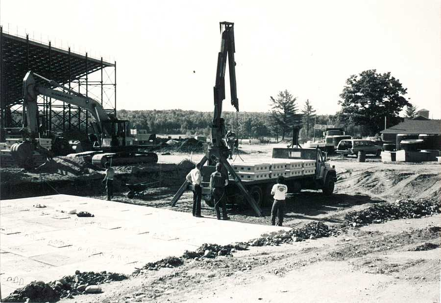 But within a couple of years., construction was underway on the speedway.