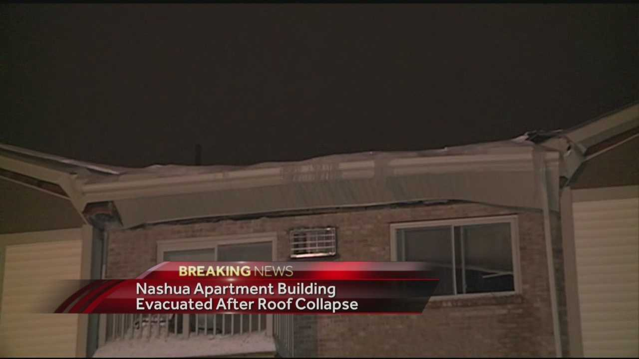 The Nashua Fire Department responded to a partial roof collapse on Congress Street Wednesday. WMUR's Stephanie Woods has the story.