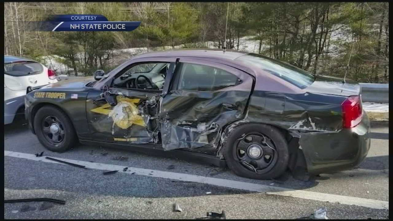 State police are urging drivers to slow down and move over for first responders after 19 cruisers have been struck this winter.