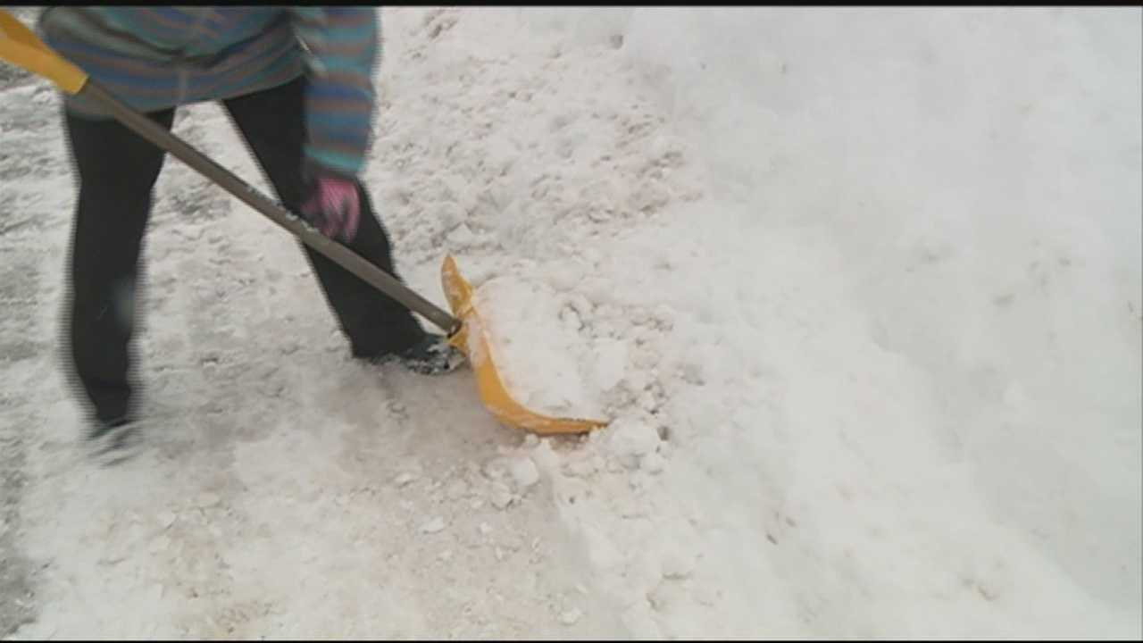 Many Granite Staters were back out clearing sidewalks and driveways Sunday. With more snow in the forecast, doctors are urging people to be careful. WMUR's Kristen Carosa has more.
