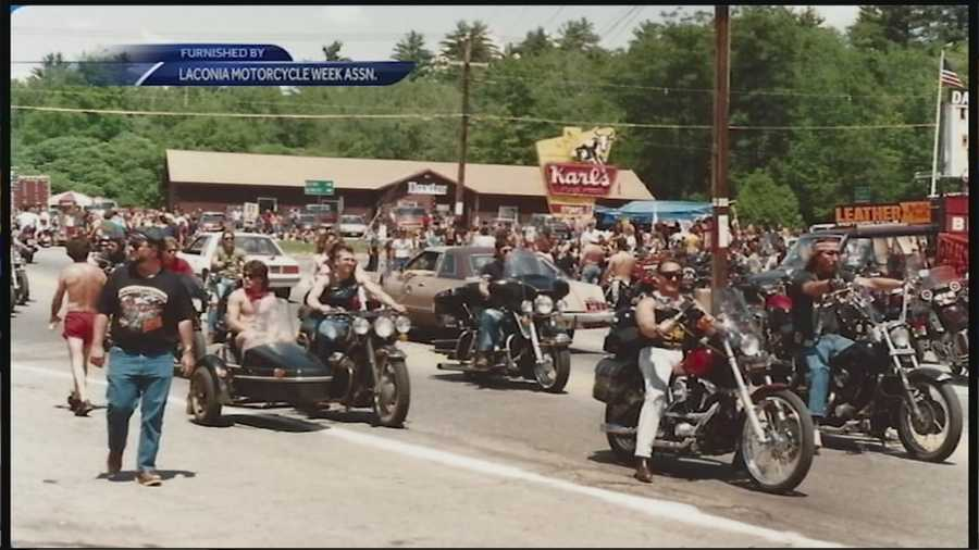 The motorcycles have been roaring through Laconia for Motorcycle Week for more than 90 years.