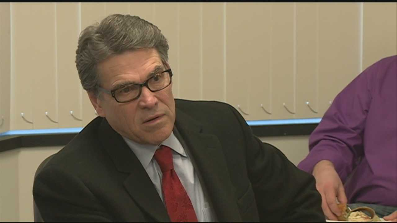 Former Texas Gov. Rick Perry was back in New Hampshire on Wednesday as he appeared to move closer to another run for the White House.