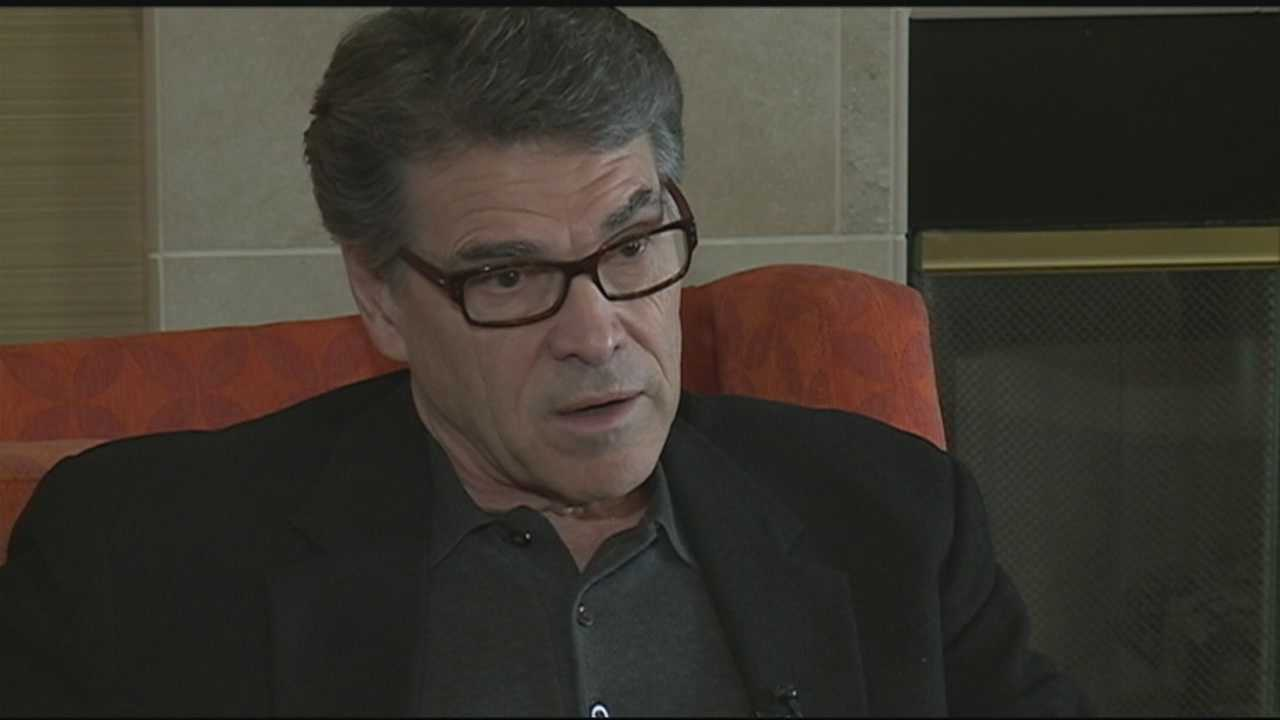Potential Republican presidential candidate Rick Perry wrapped up a two-day trip to New Hampshire on Thursday as he continues to test the waters for another White House run.