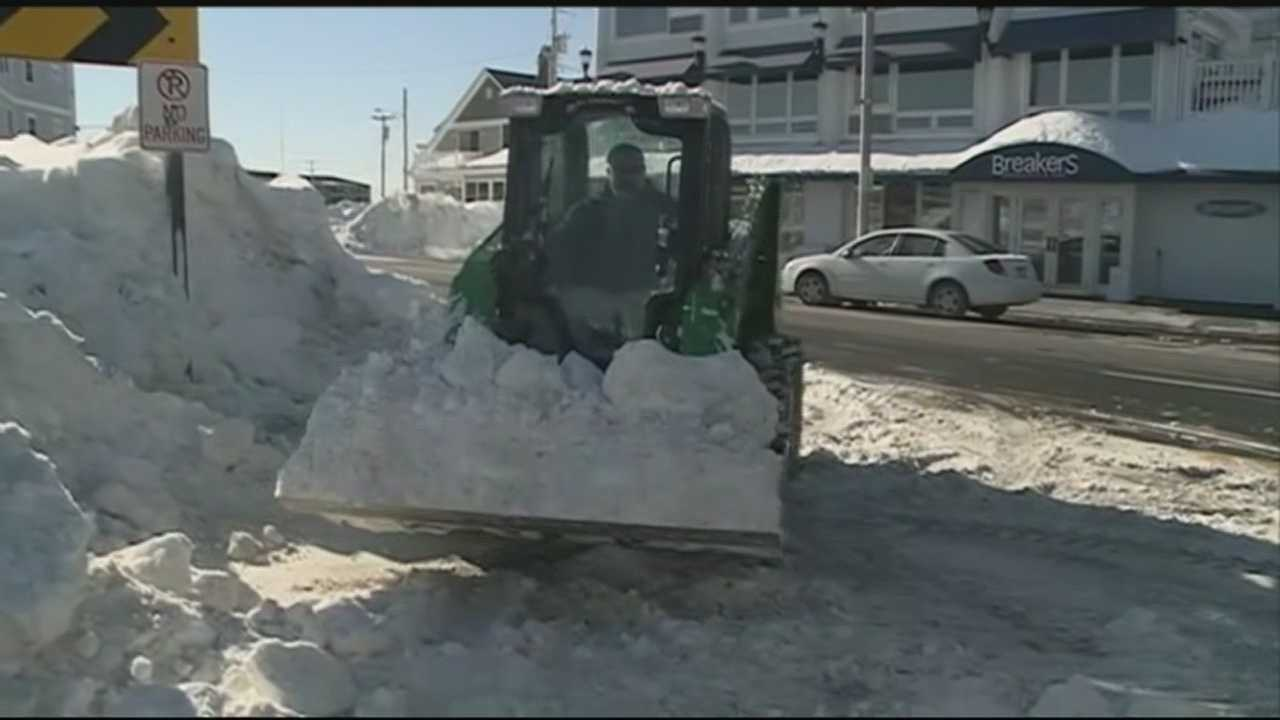 Towns along the coast of New Hampshire that have been buried by storm after storm this winter were preparing for more blizzard conditions over the weekend.