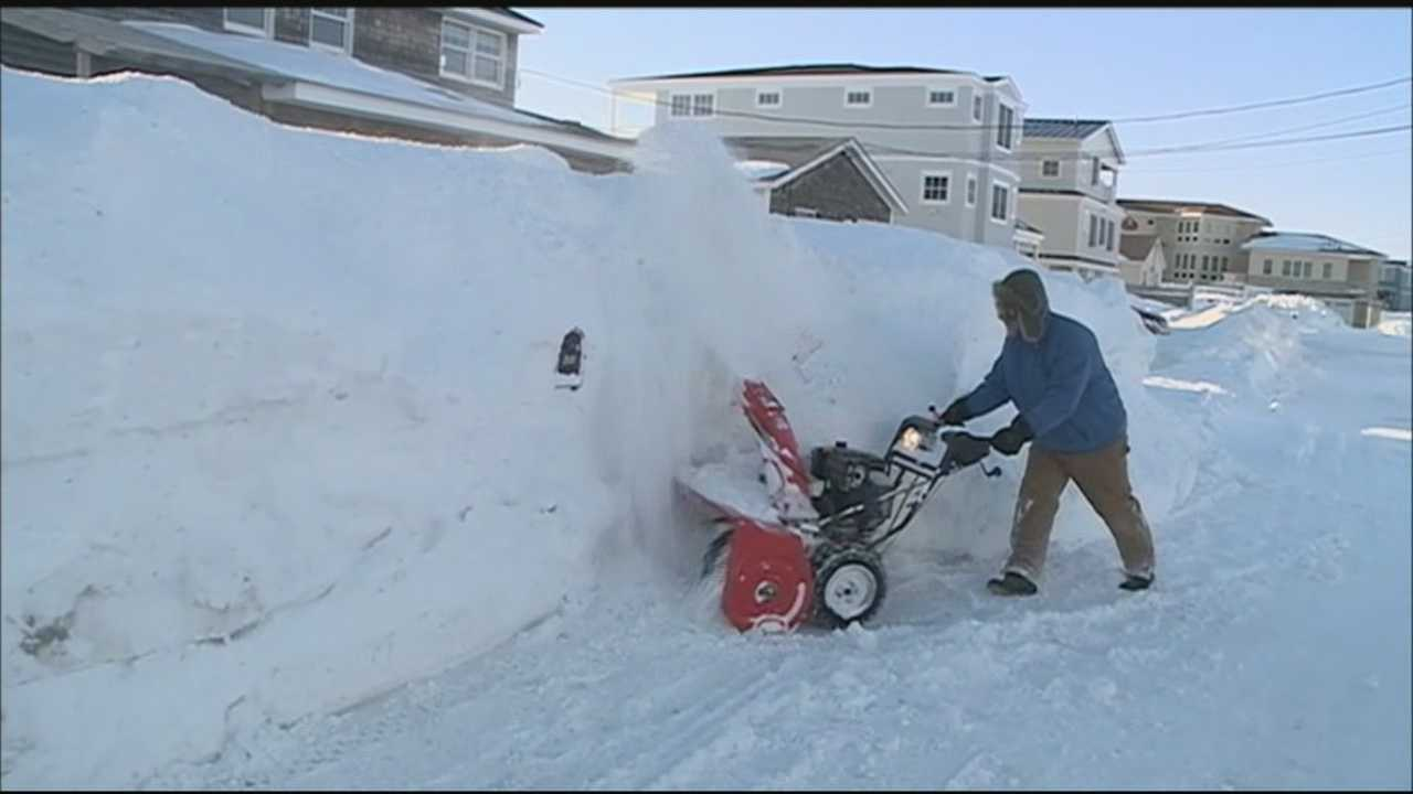 Seacoast residents braved frigid weather Monday after getting blasted by heavy snow and strong winds over the weekend.