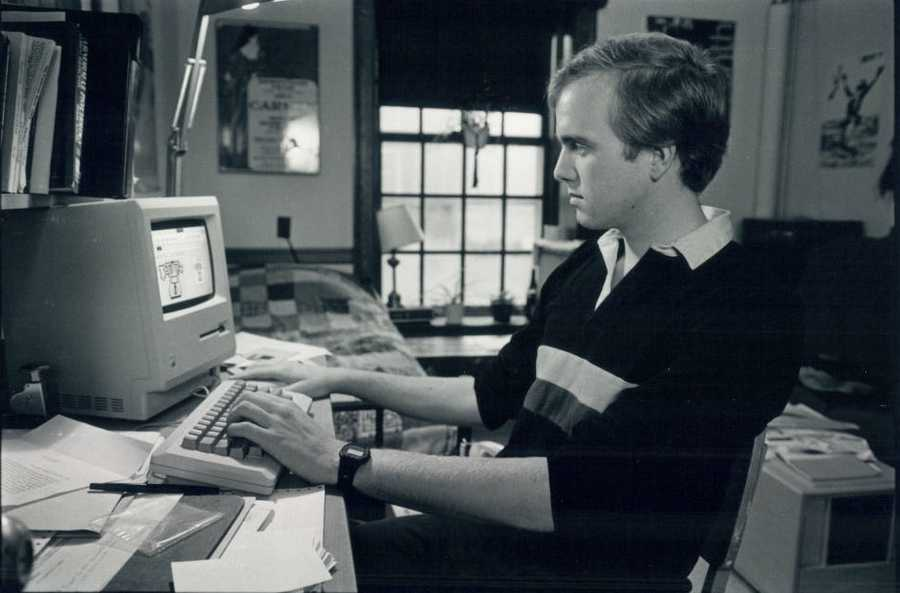 And the computers that students were using in 1985 look a lot different than the laptops that students carry around today...