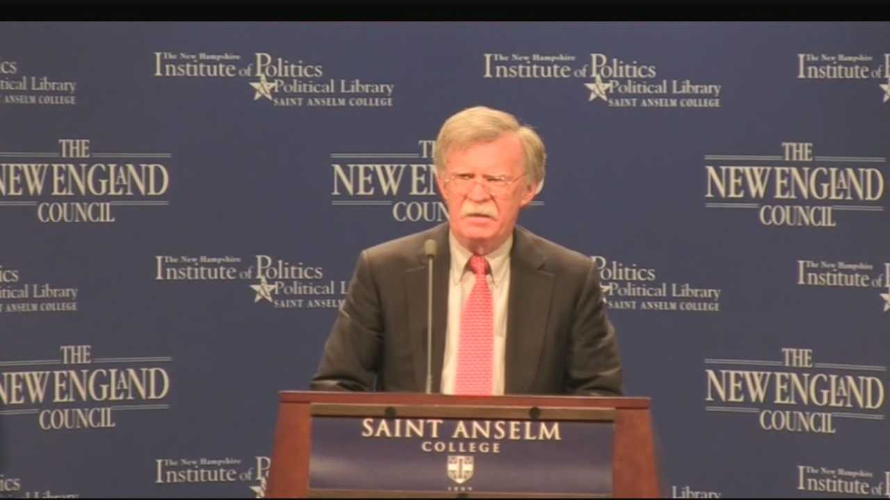 "Potential Republican presidential candidate John Bolton was the featured speaker in the latest installment of the ""Politics & Eggs"" series in Manchester on Friday."
