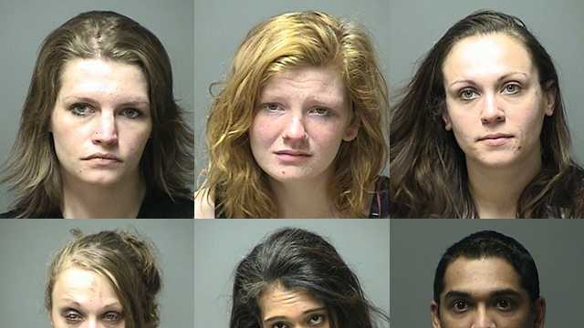 Manchester police say an investigation into prostitution in the Queen City led to the arrest of six people.