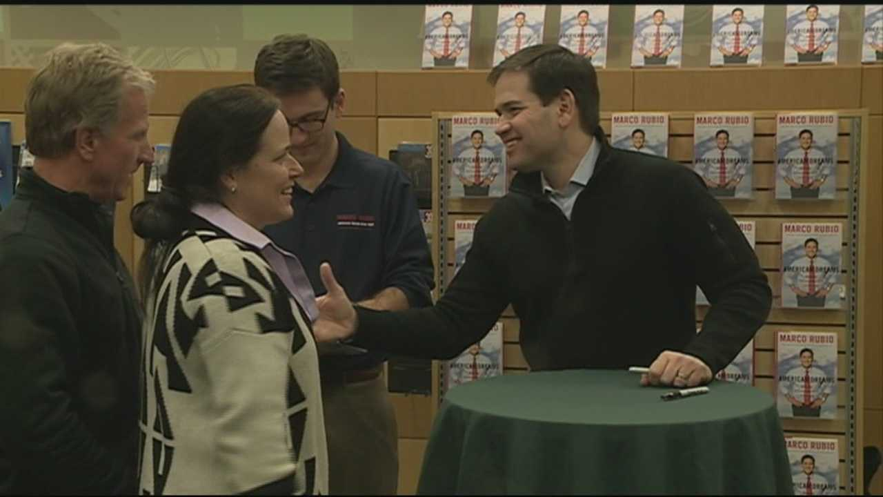 U.S. Sen. Marco Rubio of Florida visited New Hampshire Monday to interact directly with voters who will help determine his presidential fate. WMUR's Adam Sexton reports.