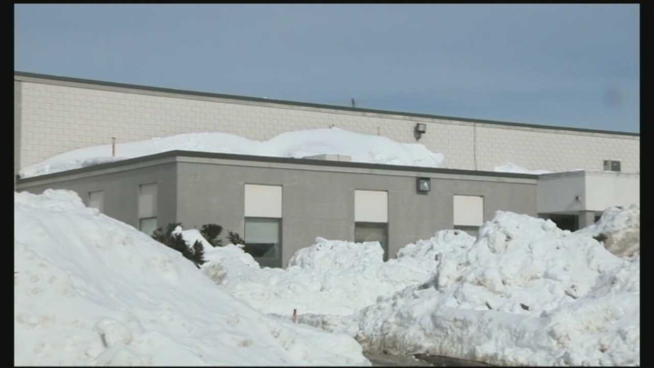 A New Hampshire high school student was removing snow from a roof when he fell through a skylight on Tuesday morning, according to authorities.
