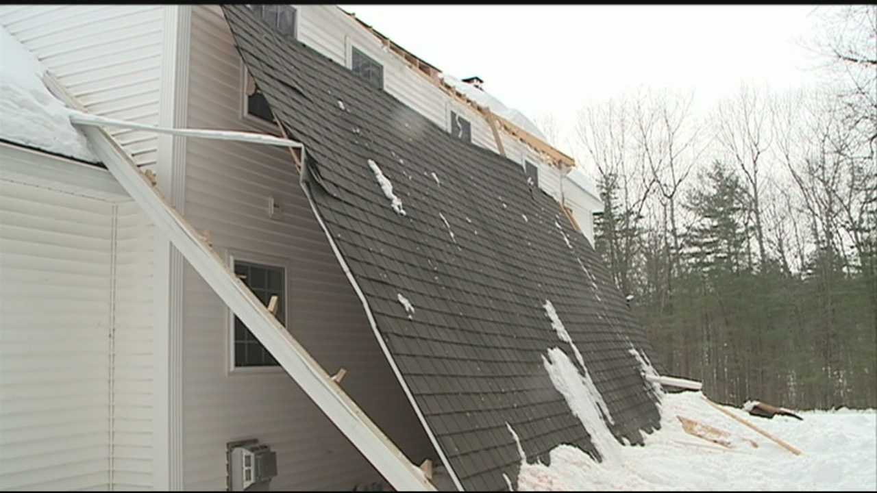 The city building inspector in Concord suspects faulty connections between the rafters and the attic joists caused the roof of a two-story Colonial to slide off last week.