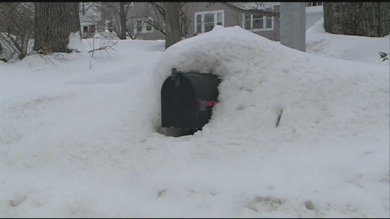 With snowbanks still piled high on the roadsides, the Postal Service said a large number of New Hampshire mailboxes are beyond the safe reach of letter carriers.