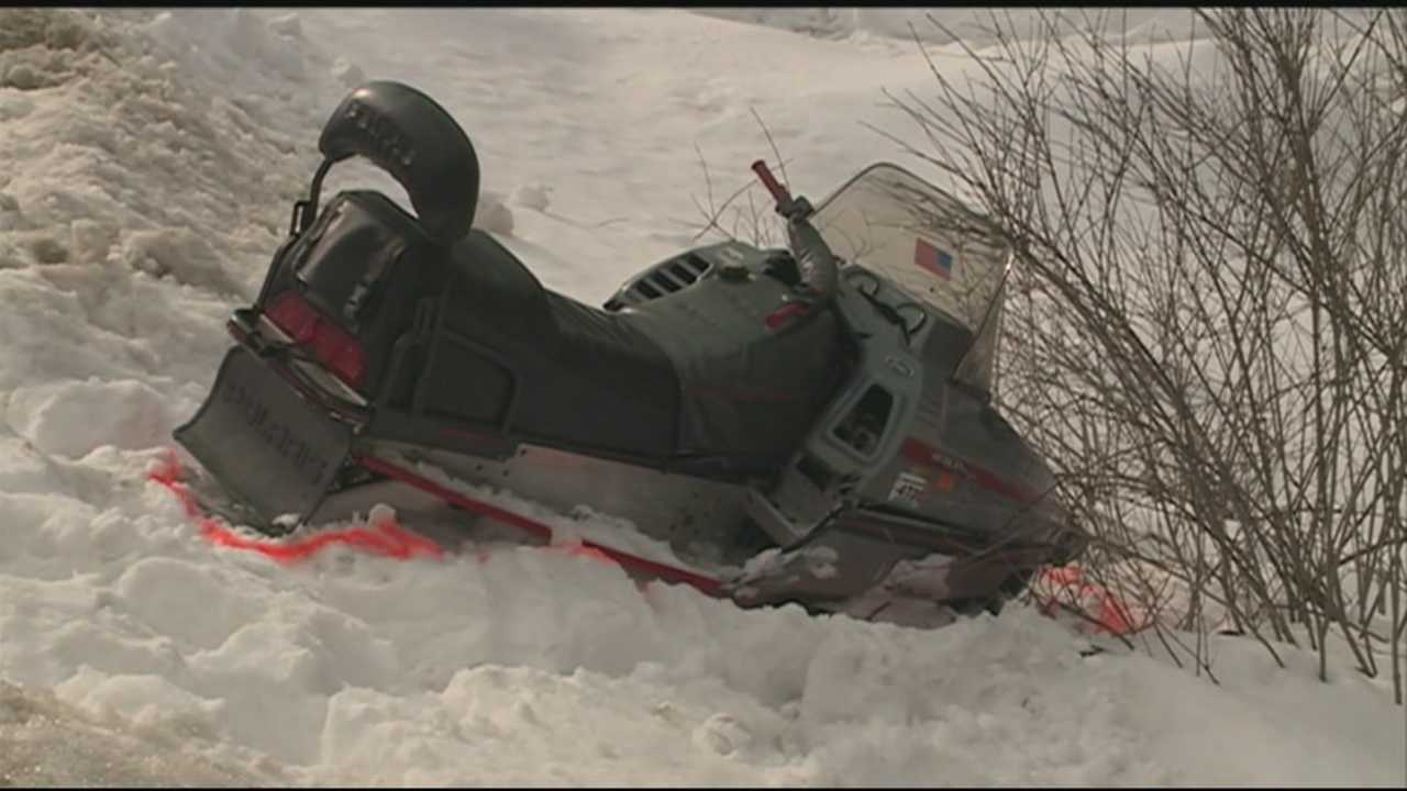 Two boys are recovering after the snowmobile they were riding collided with a van in Hooksett on Sunday.