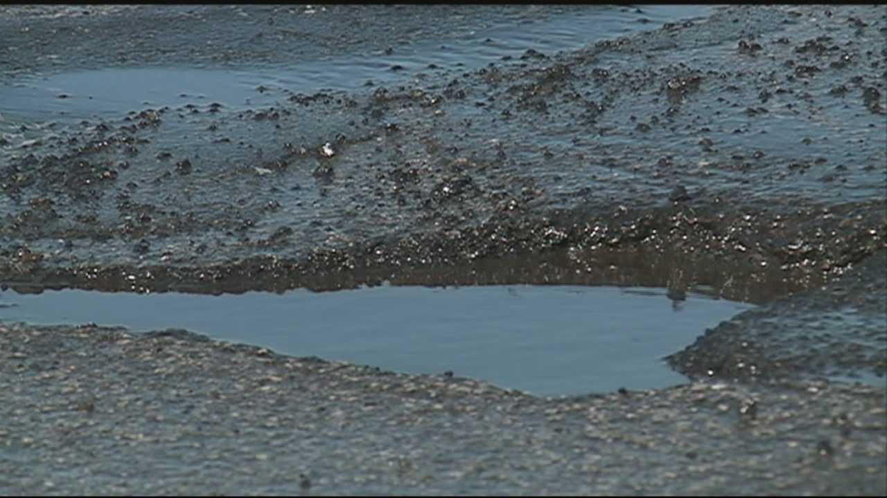 Spring isn't here yet, but potholes have arrived in New Hampshire.