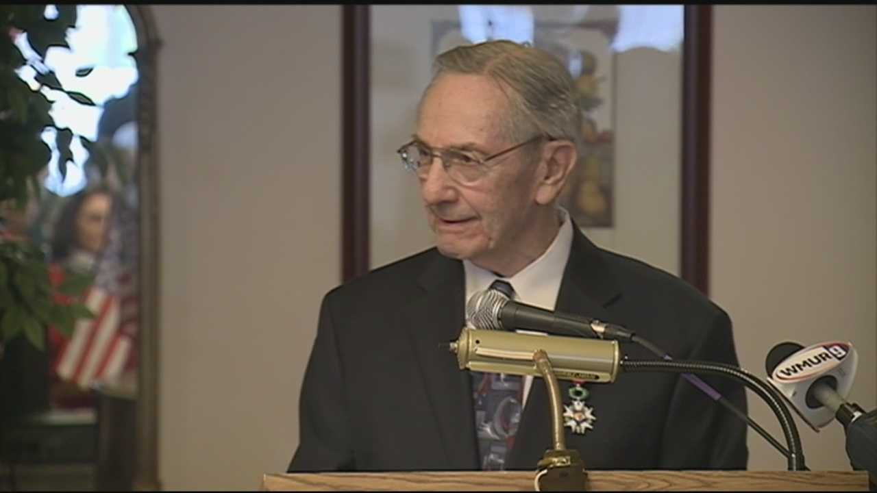 A World War II veteran from Milford was honored Friday with France's highest recognition.