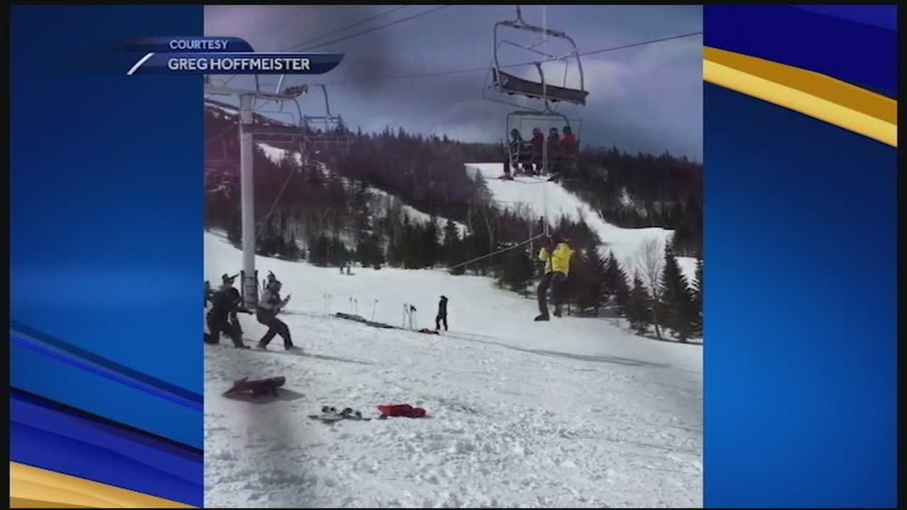 Seven people were hurt and 204 rescued in a chairlift accident at Sugarloaf Mountain Saturday.