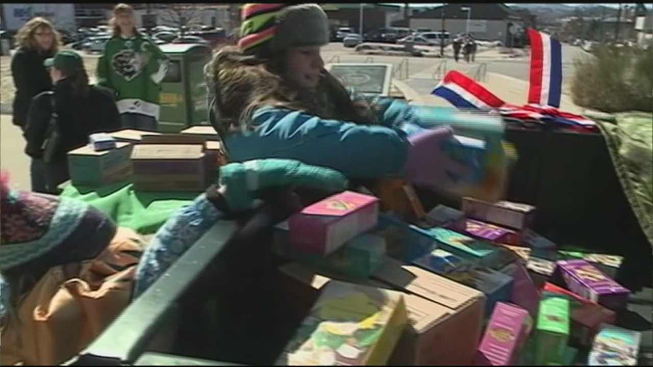 New Hampshire Girl Scouts did a sweet thing in Manchester Sunday for U.S. military servicemen and women.