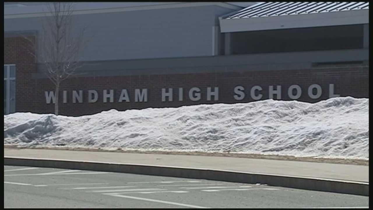 Security was increased Monday at Windham High School after a student found a threatening message written on a bathroom wall last week.