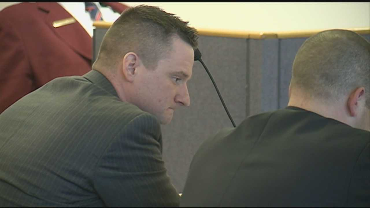 A former Salem police officer has pleaded guilty to assaulting a man he was taking into custody.