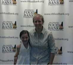 Elsa and Mel at NHFB after dropping off money from bracelet sales. 2012