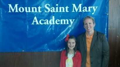 "Elsa organized a ""wear orange day"" at her elementary school for HAM. Sep. 2013"
