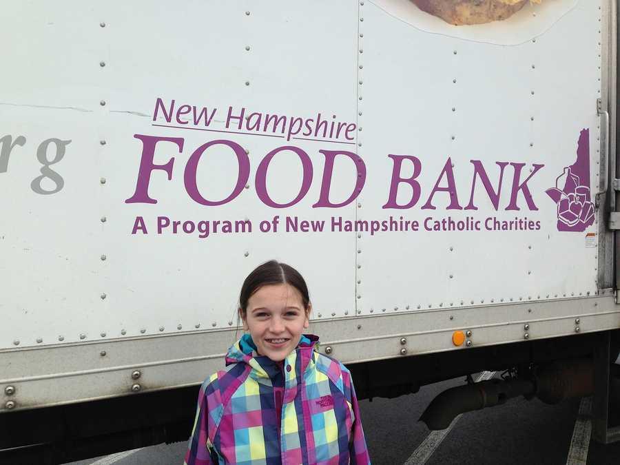 Elsa dropping off donations at the NHFB.