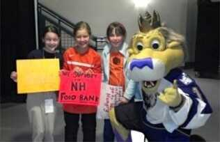Elsa and friends at the Monarchs game w/Max. HAM bracelets were sold. 2012