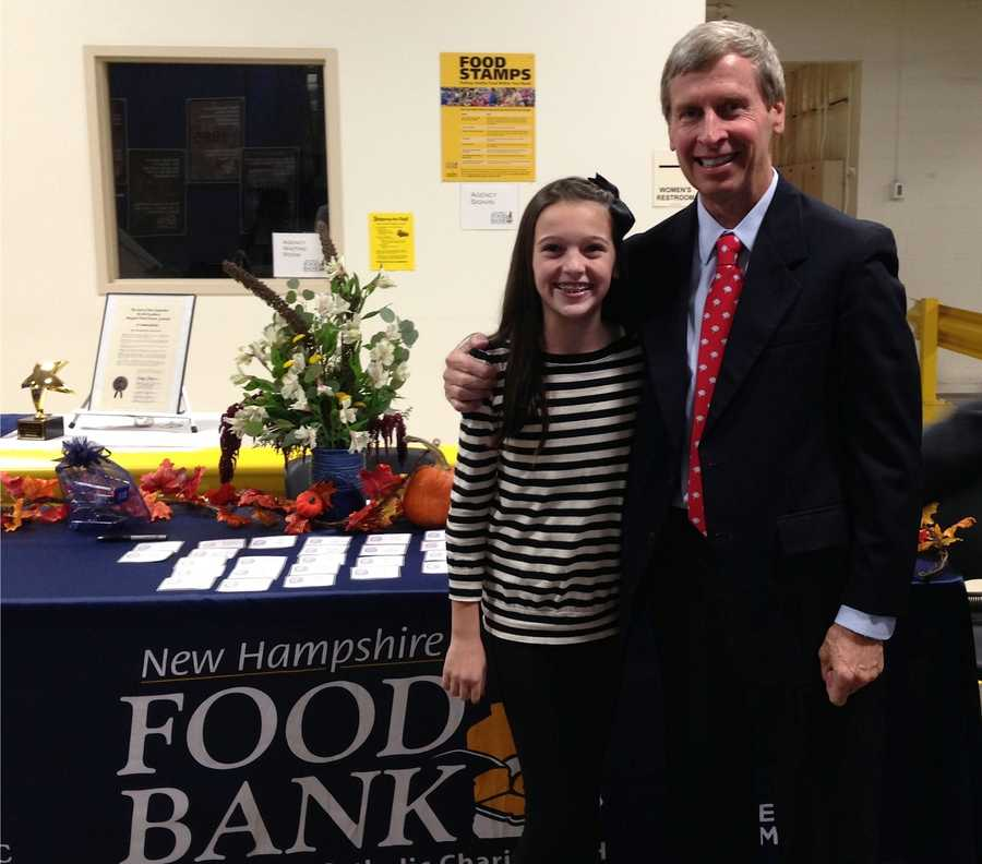 Elsa and Gov. Lynch at the 30th anniversary celebration for the NHFB. 2014