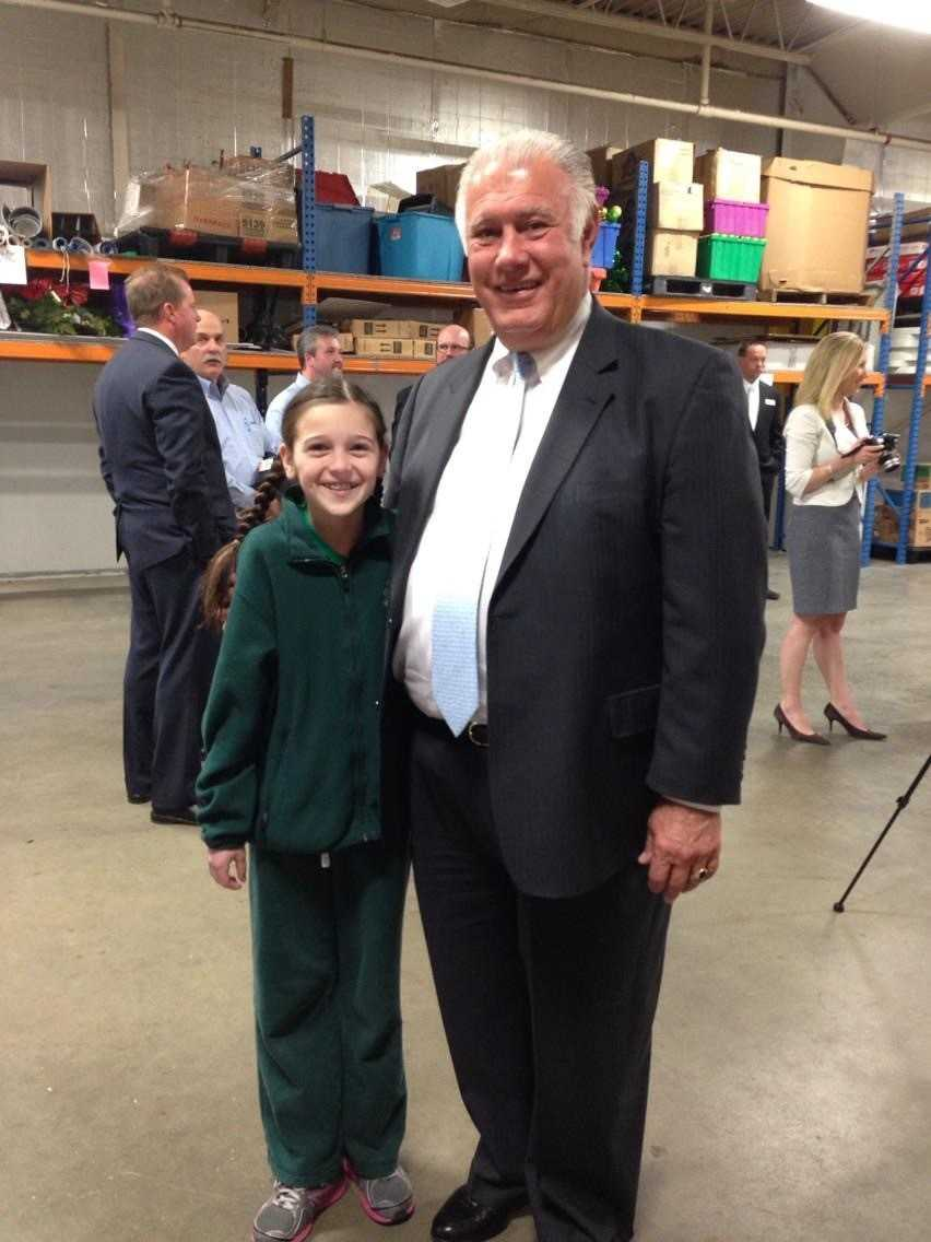 Elsa w/Mayor Gastas at the NHFB after receiving her award (goes w/#3)