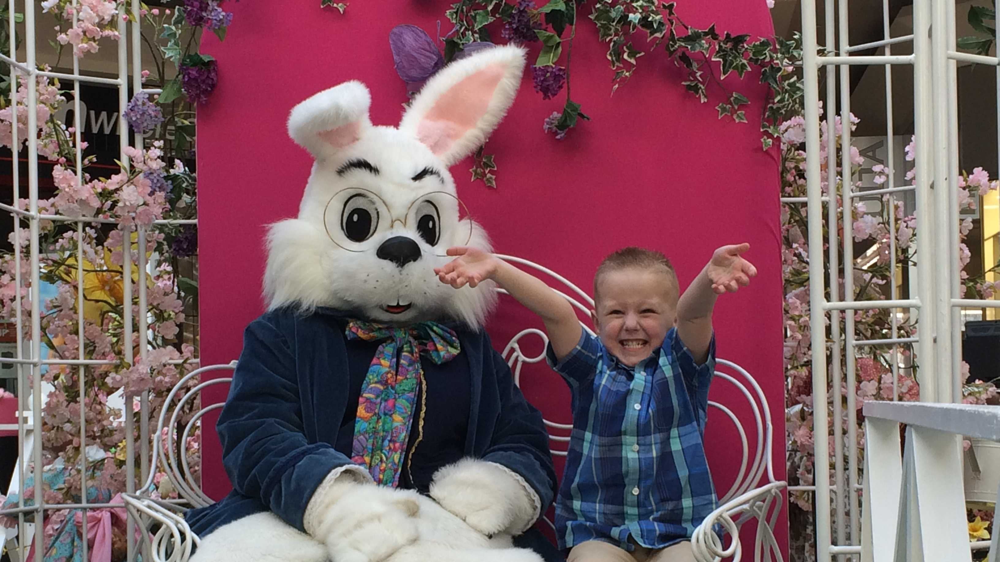 Simon Malls across the Granite State hosted a special event for special-needs children Sunday morning called Caring Bunny.
