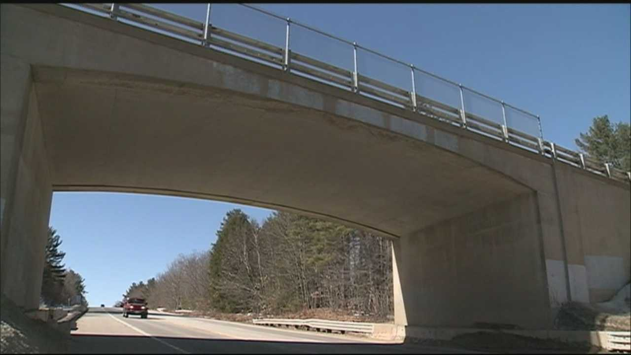 Police in Gilford are searching for people they said have been throwing dangerous debris off a bridge.