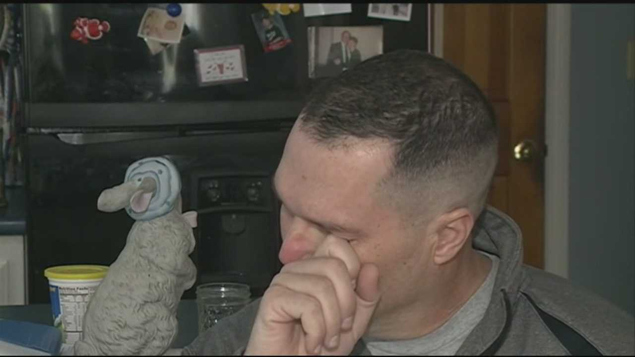 A hockey coach who suffered a traumatic brain injury in a fall from a roof is back home and on the mend.