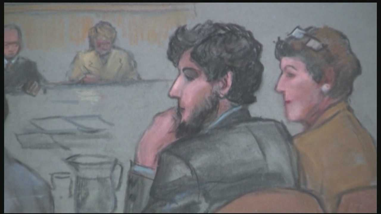 Tight security was in place outside federal court in Boston on Monday as closing arguments were delivered in the trial of admitted Boston Marathon bomber Dzhokhar Tsarnaev.